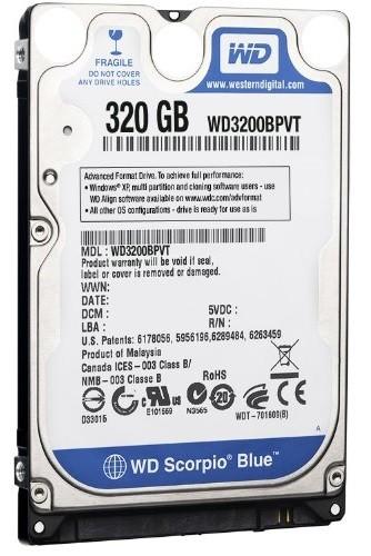 Western Digital 320GB, Sata2